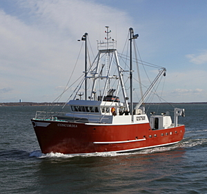 - 95' Scallop Fishing Vessel: 95'x28' Scallop Fishing Vessel.  This vessel was built at Fairhaven Shipyard in Fairhaven, Ma and built to ABS standards.  The vessel is equipped with Cat 3508 - 1100HP @ 1600RPM. [Click Image to Read More...]